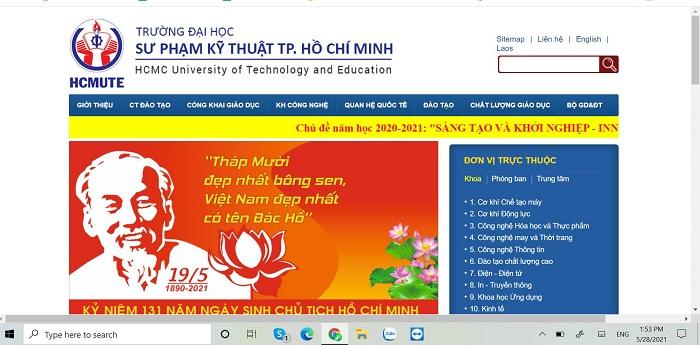 Cổng thông tin điện tử Đại học Sư phạm Kỹ thuật TPHCM