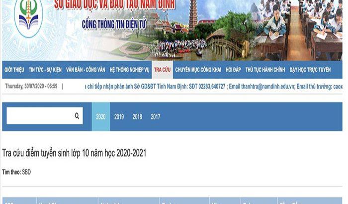Tổng hợp điểm chuẩn vào lớp 10 tỉnh Nam Định chi tiết