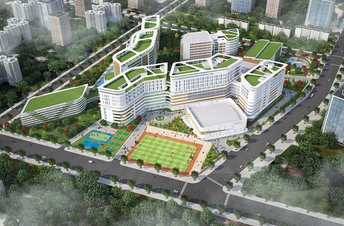 Khuôn viên trường đại học Y khoa Phạm Ngọc Thạch